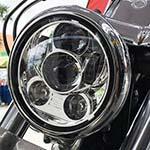 プロジェクターLED 5-3/4インチ・ヘッドライト クローム